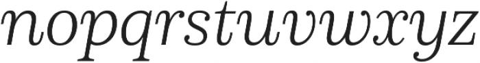 Schorel Norm Light Italic otf (300) Font LOWERCASE