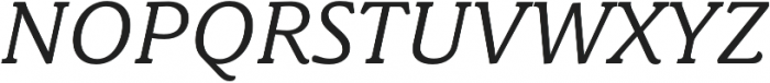 Schuss News Pro Italic otf (400) Font UPPERCASE