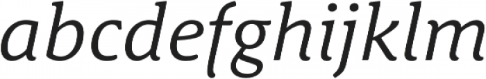 Schuss News Pro Italic otf (400) Font LOWERCASE