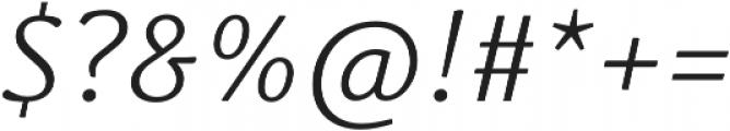 Schuss News Pro Light Italic otf (300) Font OTHER CHARS
