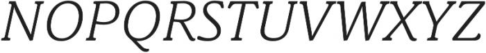 Schuss News Pro Light Italic otf (300) Font UPPERCASE