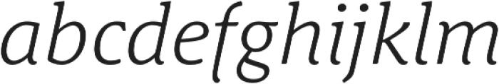 Schuss News Pro Light Italic otf (300) Font LOWERCASE