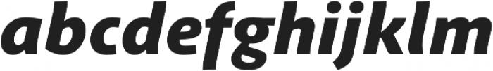 Schuss Sans PCG Heavy Italic otf (800) Font LOWERCASE