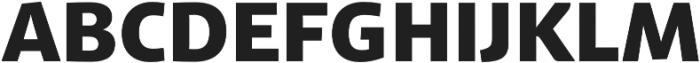 Schuss Sans PCG Heavy otf (800) Font UPPERCASE