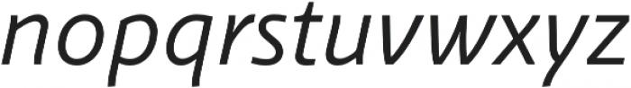 Schuss Sans PCG Italic otf (400) Font LOWERCASE