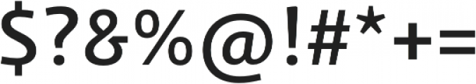 Schuss Sans PCG Medium otf (500) Font OTHER CHARS