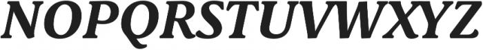 Schuss Serif Pro Bold Italic otf (700) Font UPPERCASE