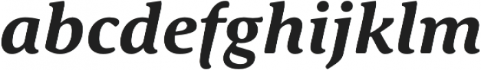 Schuss Serif Pro Bold Italic otf (700) Font LOWERCASE