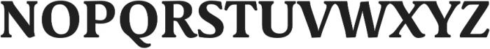 Schuss Serif Pro Bold otf (700) Font UPPERCASE