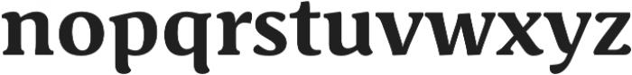 Schuss Serif Pro Bold otf (700) Font LOWERCASE