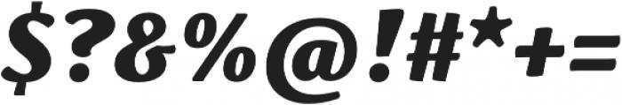 Schuss Serif Pro Heavy Italic otf (800) Font OTHER CHARS