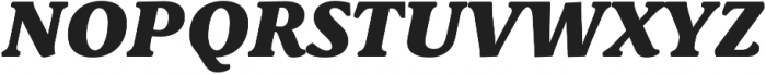 Schuss Serif Pro Heavy Italic otf (800) Font UPPERCASE