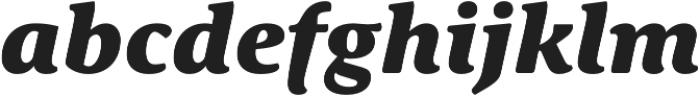 Schuss Serif Pro Heavy Italic otf (800) Font LOWERCASE