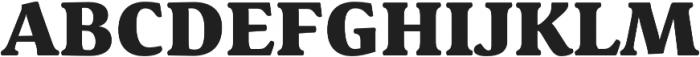 Schuss Serif Pro Heavy otf (800) Font UPPERCASE