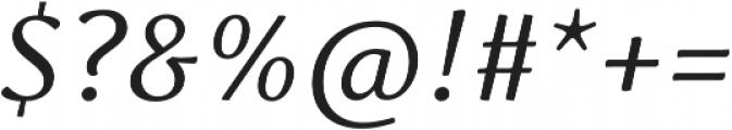 Schuss Serif Pro Italic otf (400) Font OTHER CHARS