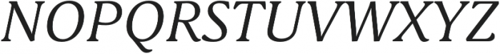 Schuss Serif Pro Italic otf (400) Font UPPERCASE