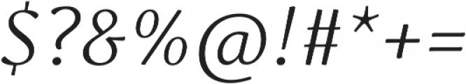 Schuss Serif Pro Light Italic otf (300) Font OTHER CHARS