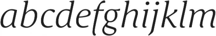 Schuss Serif Pro Light Italic otf (300) Font LOWERCASE