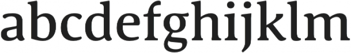 Schuss Serif Pro Medium otf (500) Font LOWERCASE