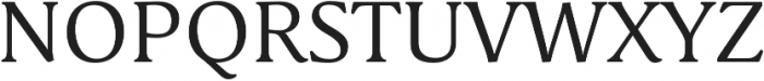 Schuss Serif Pro Regular otf (400) Font UPPERCASE