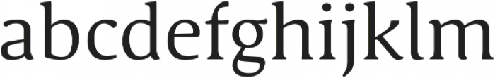 Schuss Serif Pro Regular otf (400) Font LOWERCASE