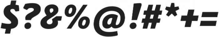 Schuss Slab Pro Heavy Italic otf (800) Font OTHER CHARS