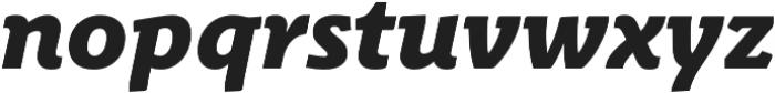 Schuss Slab Pro Heavy Italic otf (800) Font LOWERCASE