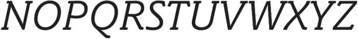 Schuss Slab Pro Italic otf (400) Font UPPERCASE