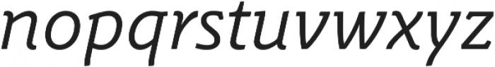Schuss Slab Pro Italic otf (400) Font LOWERCASE