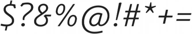 Schuss Slab Pro Light Italic otf (300) Font OTHER CHARS