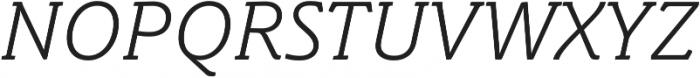 Schuss Slab Pro Light Italic otf (300) Font UPPERCASE