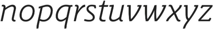 Schuss Slab Pro Light Italic otf (300) Font LOWERCASE