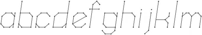 Science White Light Italic Light Italic otf (300) Font LOWERCASE