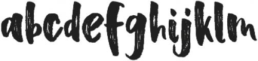 Scoothlane Sans Brush Regular otf (400) Font LOWERCASE