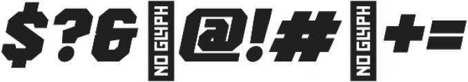 Scoreline Bold Italic otf (700) Font OTHER CHARS