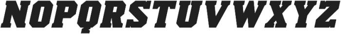 Scoreline Bold Italic otf (700) Font UPPERCASE