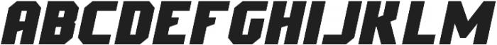 Scoreline Sans Bold Italic otf (700) Font UPPERCASE