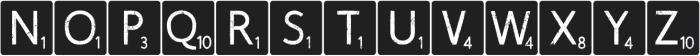 Scrabblish otf (400) Font LOWERCASE