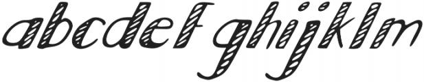 Scratch otf (400) Font LOWERCASE