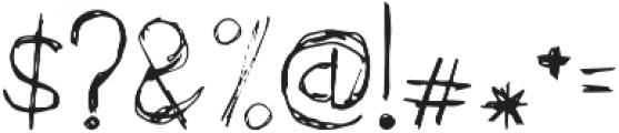 Scratchapalooza Regular otf (400) Font OTHER CHARS