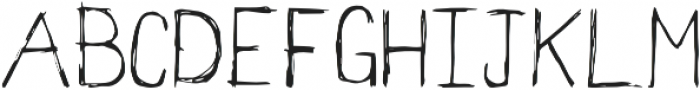 Scratchapalooza Regular otf (400) Font UPPERCASE