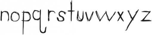 Scratchapalooza Regular otf (400) Font LOWERCASE