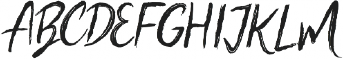 Scratched Brush Script Regular otf (400) Font UPPERCASE