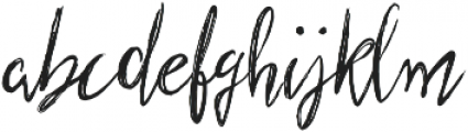 Scratched Brush Script Regular otf (400) Font LOWERCASE