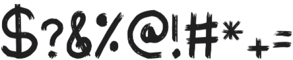 Scratched Up Regular otf (400) Font OTHER CHARS