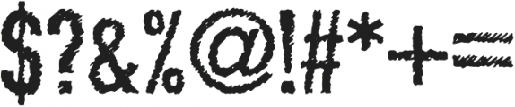 Scratchy Regular otf (400) Font OTHER CHARS