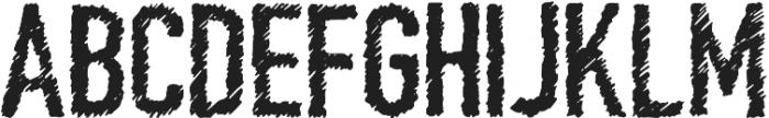 Scratchy Regular otf (400) Font UPPERCASE