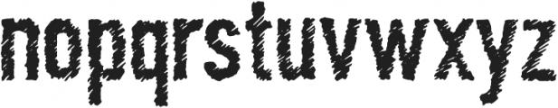 Scratchy Regular otf (400) Font LOWERCASE