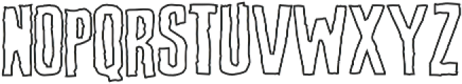 Screature Layered Outline otf (400) Font UPPERCASE