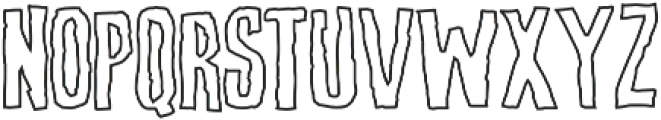 Screature Layered Outline otf (400) Font LOWERCASE